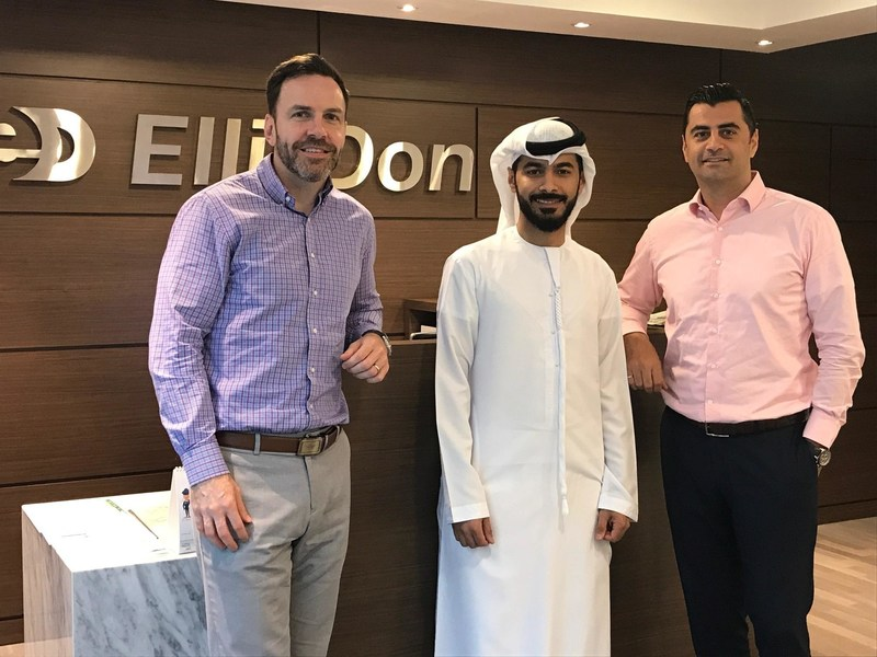 EllisDon, Middle East Office. Left to right: Daniel Murphy, Jamal Alsabt, Wissam Ayoub. (CNW Group/EllisDon Corporation)