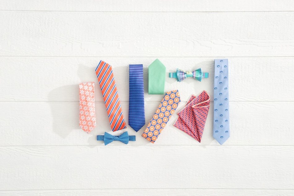 Southern Tide partners with Harry Bachrach on neckwear and pocket squares.