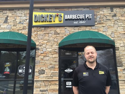 Shannon Skains opens his second Dickey's Barbecue Pit location in Buford, GA.