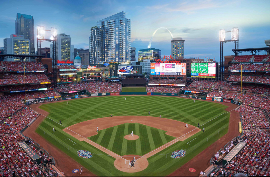 Located at the corner of Clark and Broadway, One Cardinal Way will be one of the most luxurious, amenity-rich apartment communities in the country. The 29-story, 297-unit tower will offer unobstructed views directly into Busch Stadium, as well as the Gateway Arch, Mississippi River, and St. Louis skyline.&  Designed by Hord Coplan Macht, the building will feature high-end materials, expansive ceiling heights, state-of-the-art appliances, and parking within the building.