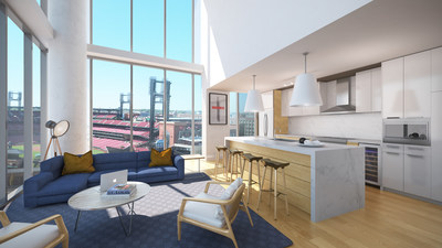 One Cardinal Way will feature studio, 1-bedroom, 2-bedroom and penthouse apartment homes, as well as over 25,000 square feet of interior and exterior residential amenity space that rivals that of any luxury apartment or condo building in the United States.