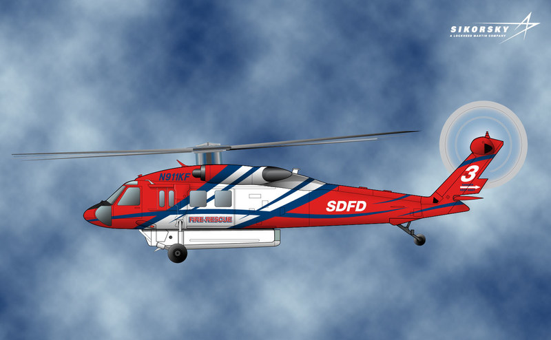 Rendering of the Firehawk™ that will provide the City of San Diego Fire Department an essential, multi-mission helicopter to protect the lives and property of San Diego's citizens.