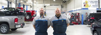 Holiday Mazda service technicians Jeremy Whitty (left) and Kurt Klaske (right).