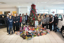 Holiday Automotive with Fond du Lac Cops For Kids toy drive donation.