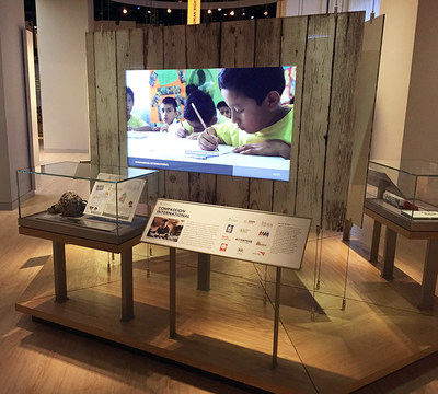 Compassion International second-floor exhibit at the Museum of the Bible in Washington D.C.