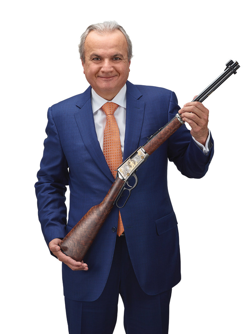 Anthony Imperato, President and owner of Henry Repeating Arms holding the one-millionth H001 Lever Action .22 rifle.