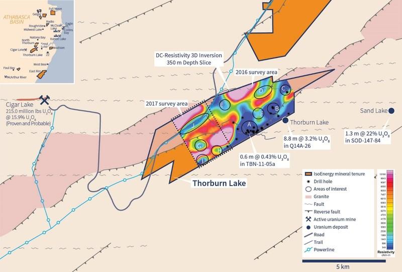 Figure 1 – Thorburn Lake 2017 Geophysical Survey. (CNW Group/IsoEnergy Ltd.)