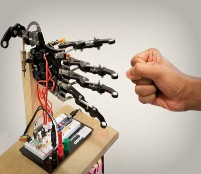 The robotic hand uses a brain-inspired neural network (Image: ETH Zurich) (PRNewsfoto/ETH Zurich)
