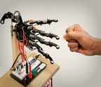 The robotic hand uses a brain-inspired neural network (Image: ETH Zurich) (PRNewsfoto/ETH Zurich)