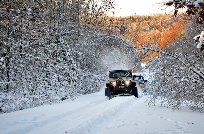 Off-roading in the snow presents a completely unique set of challenges