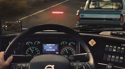 Volvo Active Driver Assist, a comprehensive, camera- and radar-based collision mitigation system, is standard equipment on the new Volvo VNR and VNL series. The system helps professional truck drivers monitor other vehicles on the road and provides alerts and even automatic braking to reduce risk of collisions.
