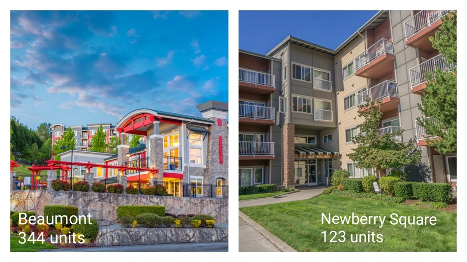 Beaumont 344 units and Newberry Square 123