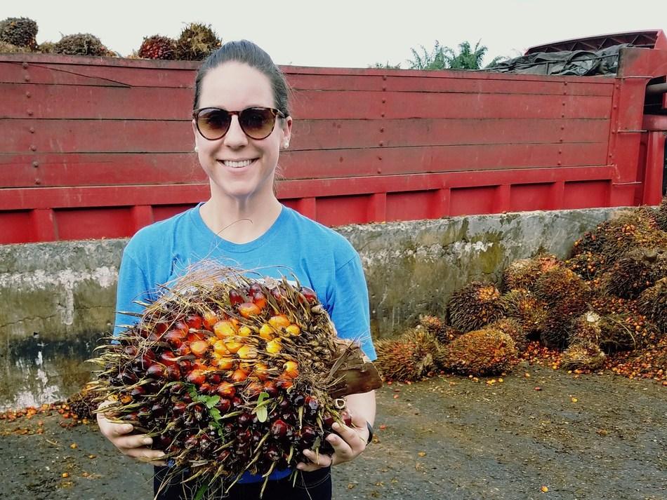 Amy Braun Senter with Palm