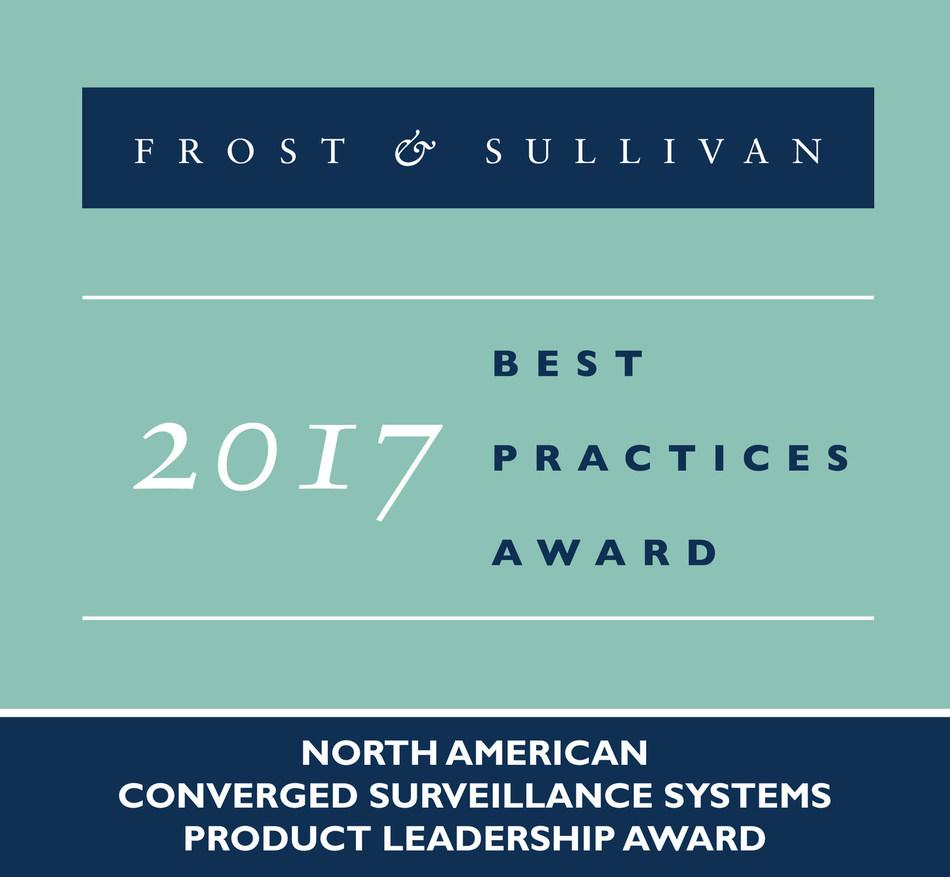 Frost & Sullivan recognizes Vidsys with the 2017 North American Product Leadership Award for its Enterprise CSIM software platform. (PRNewsfoto/Frost & Sullivan)