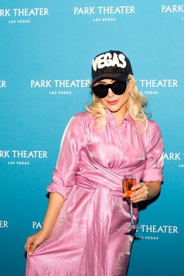 Lady Gaga announces her two-year engagement at Park MGM's Park Theater in Las Vegas. Credit: Alex Dolan