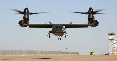 The Bell V-280 lifts off the ground for the first time at Bell Helicopter's Amarillo, Texas, facility on Dec. 18. Spirit AeroSystems is responsible for designing and building the complete fuselage for the V-280.