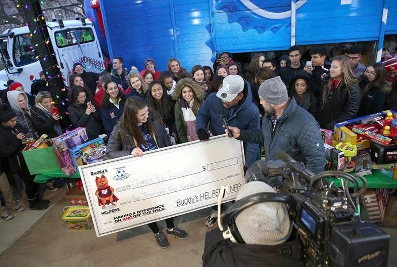 In a moving moment, Chicago-area student athletes loaded 10,000 children's toys on a Pepsi semitruck and made a surprise delivery to Chance The Rapper and his charity, SocialWorks. They also presented a $2,500 check to Chance The Rapper, who is distributing the toys to children from low-income families throughout Chicago this holiday season. The massive effort was a part of the Making A Difference On AND Off The Field campaign presented by Buddy's HELPERS and the PepsiCo Showdown.