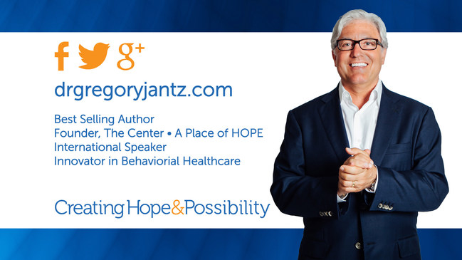Dr. Gregory Jantz. Best-selling author, Keynote Speaker, Treatment Facility Founder, Healthcare Innovator
