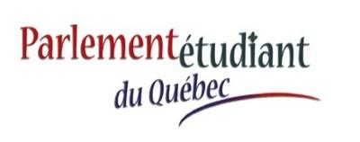 Logo : Parlement étudiant du Québec (Groupe CNW/Assemblée nationale du Québec)