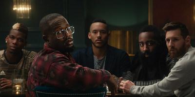 adidas 'Calling All Creators' Campaign Film Still - From L to R: Paul Pogba, Von Miller, Carlos Correa, James Harden & Lionel Messi.