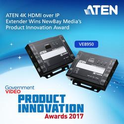 ATEN 4K HDMI over IP Extender Wins NewBay Media's Product Innovation Award