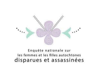 Logo : Enquête nationale sur les femmes et les filles autochtones disparues et assassinées (Groupe CNW/Enquête nationale sur les femmes et les filles disparues ou assassinées)