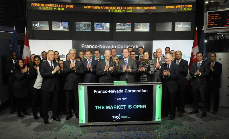 Franco-Nevada Corporation Opens the Market (CNW Group/TMX Group Limited)