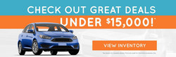 Go Auto Express offers many used cars, trucks and SUVs that are priced under $15,000.