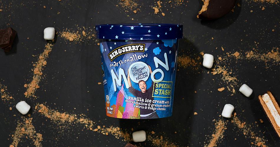 Ben & Jerry's NEWEST flavor, Marshmallow Moon.