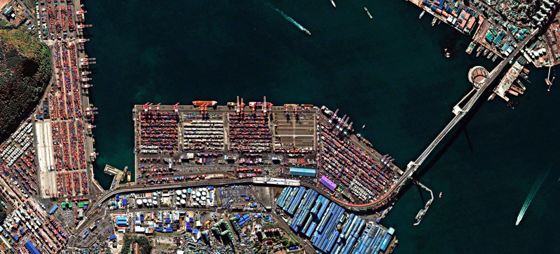 Deimos-2 image of Busan Port, South Korea (CNW Group/UrtheCast Corp.)