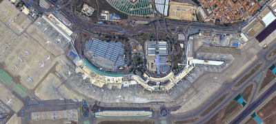 KOMPSAT-3A image of the Adolfo Suárez Madrid–Barajas Airport in Madrid, Spain (CNW Group/UrtheCast Corp.)