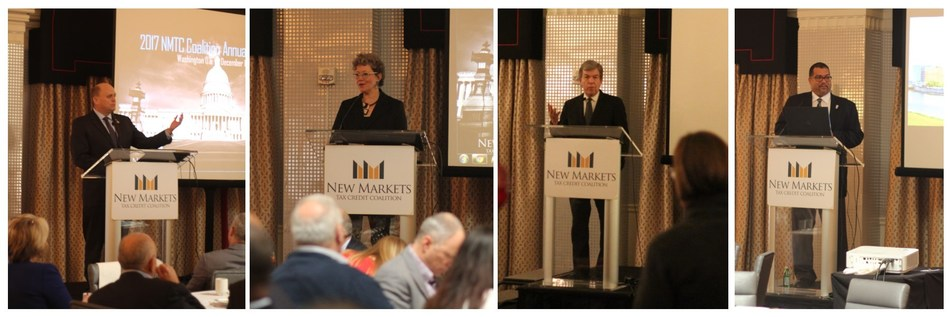 Keynote Speakers (from left to right): Rep. Reed, CDFI Fund Director Donovan, Sen. Blunt, Commissioner Shaw