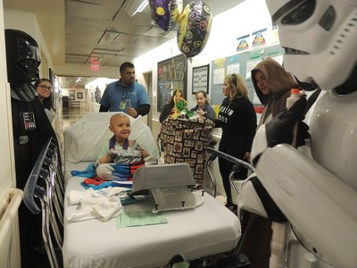 The halls of Miller Children's & Women's were filled with joy and laughter as Star Wars characters surprised patients with plush toys as part of the 20th annual Bear Hugs Toy Drive.