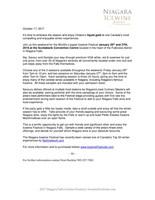 Niagara Icewine Festival, Niagara Falls Press Release (CNW Group/Wine Marketing Association of Ontario)
