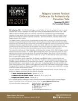Niagara Icewine Festival Press Release (CNW Group/Wine Marketing Association of Ontario)