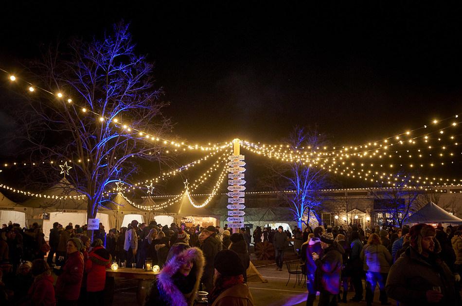 Twenty Valley Winter Wine Fest at Night (CNW Group/Wine Marketing Association of Ontario)