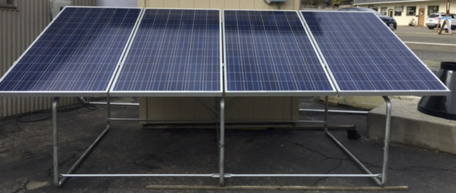 FEMA-1 Structure equipped with four 380W solar modules