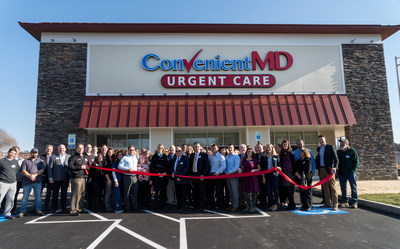 ConvenientMD celebrates the Grand Opening of their Westbrook clinic with a ribbon cutting ceremony lead by the Portland Regional Chamber of Commerce