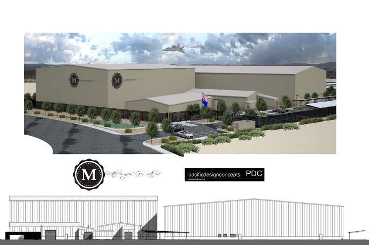 Rendering of the 65,625 square foot building with logo (CNW Group/Marapharm Ventures Inc.)