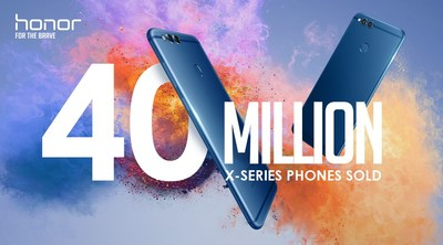 Honor X series achieved overwhelming sales performance with over 40 million units sold in the global market.