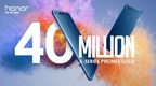 Honor X Series Marks 40 Million Unit Sales Milestone With Tremendous Support From Consumers Worldwide