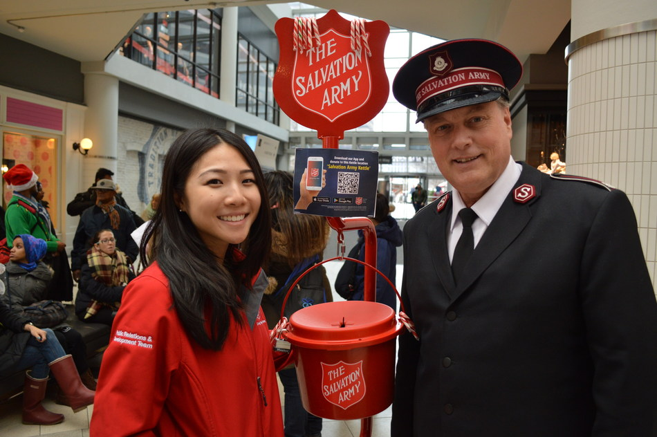 With a national $21-million fundraising goal, the Christmas Kettle Campaign enables local Salvation Army units in 400 communities across Canada to help individuals and families with the basic necessities of life, such as food, clothing and shelter. (CNW Group/The Salvation Army)