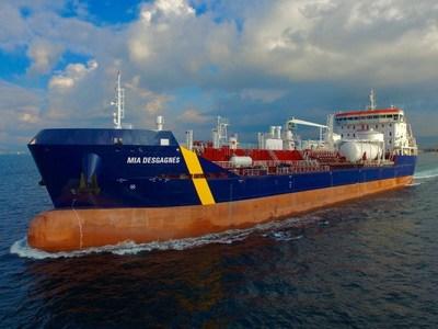 Desgagnés prend livraison du N/C Mia Desgagnés - Une sixième acquisition en 2017 - Une autre première mondiale et canadienne! (Groupe CNW/Groupe Desgagnés inc.)