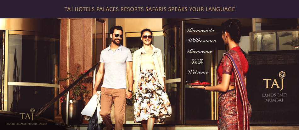 Taj Hotels Palaces Resorts Safaris Speaks Your Language (PRNewsfoto/Taj Hotels Palaces Resorts Safar)