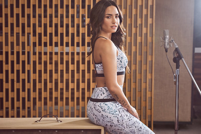 Demi Lovato wearing the Andante outfit in her January campaign for Fabletics