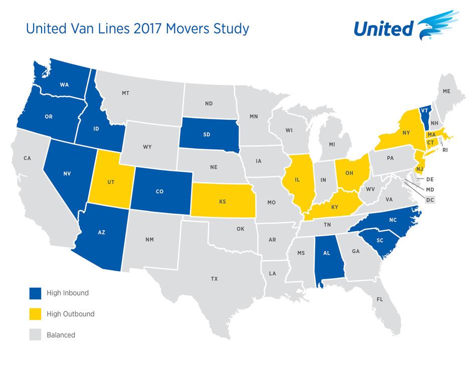 United Van Lines 2017 Movers Study