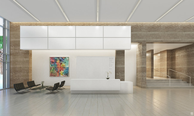 The newly unveiled Richard Meier-designed lobby space at Citigroup Center developed by Crocker Partners