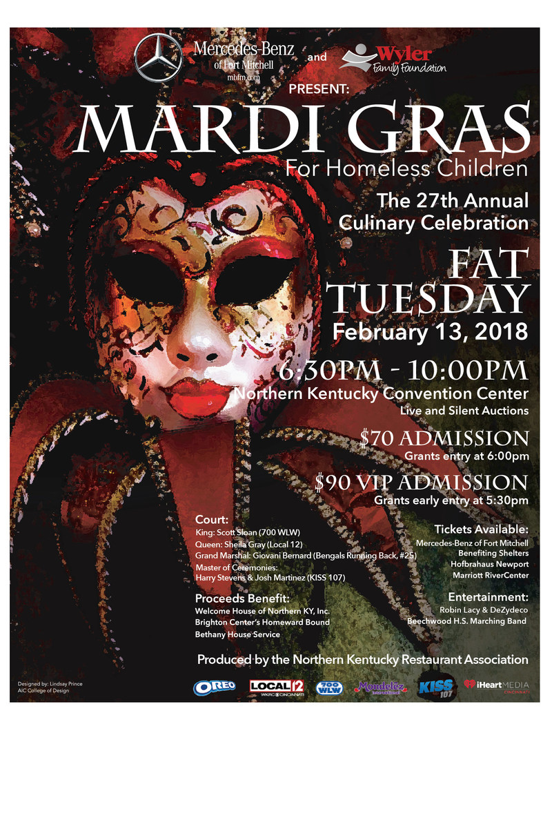 2018 Mardi Gras, presented by Mercedes-Benz of Fort Mitchell, poster winner