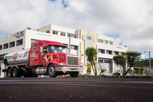 Foster Fuels truck fueling Humacao Premier Medical Center, Nov 6 2017