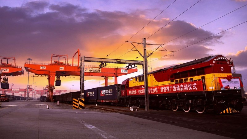 A newly launched panda-themed Chengdu-Europe freight train promotes Sichuan as a compelling tourism destination